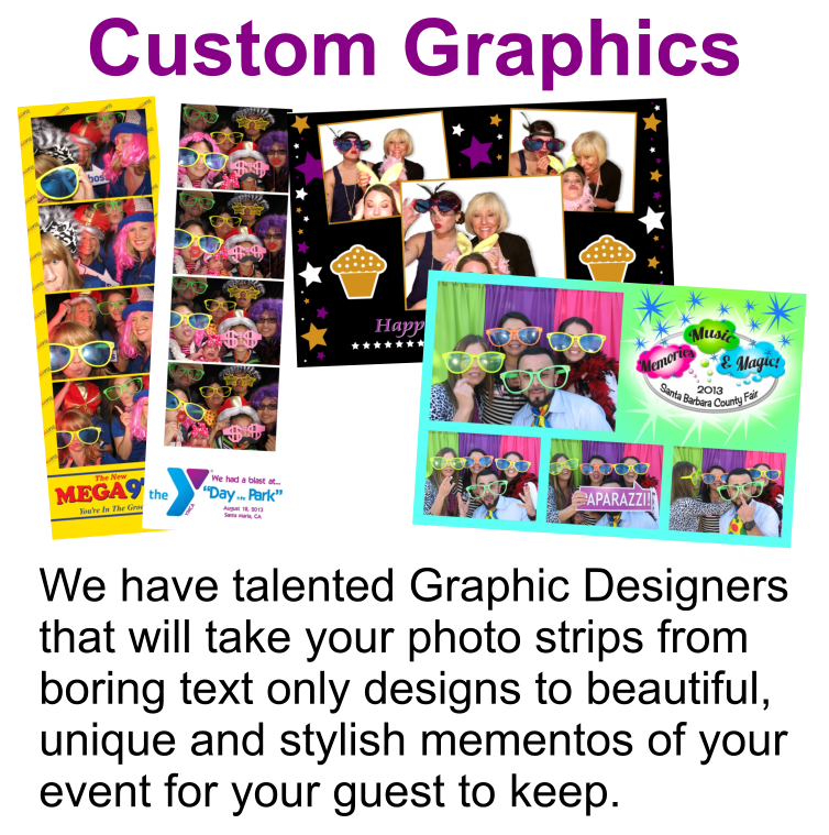Central Coast Photo Booth Rentals Custom Graphics