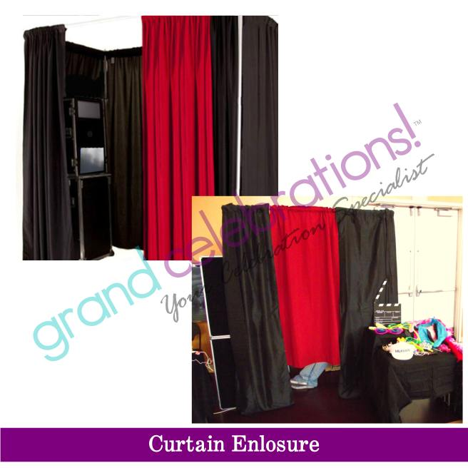 Curtain Enclosure Photo Booth