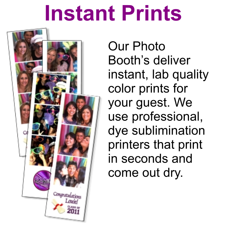 Central Coast Photo Booth Rentals Instant Prints